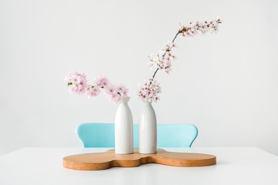 White Bottle Flower Vase